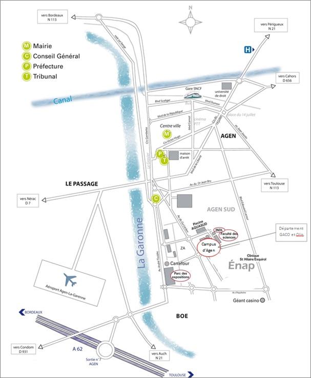 Carte Campus Bordeaux.Venir A L Iut Iut De Bordeaux