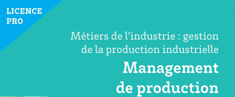 Candidatures « Licence Professionnelle Management de Production »