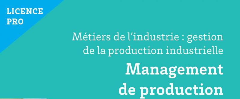Candidatures «Licence Professionnelle Management de Production»
