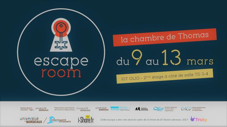 Escape Room du 9 au 13 mars 2020 à l'IUT QLIO